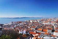 Lisbon spring skyline Royalty Free Stock Image