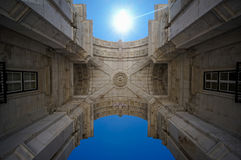 Lisbon Square Arc. In Portugal Stock Photos