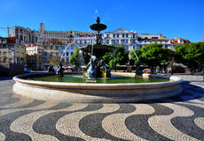Lisbon square, Portugal Stock Image