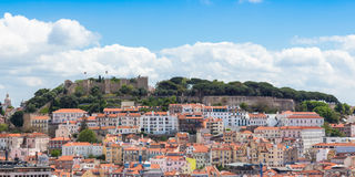 Lisbon St Jorge Castle from Sao Pedro de Alcantara viewpoint - M Stock Images