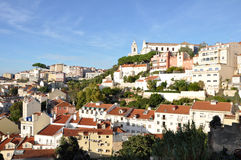 Lisbon stad - panorama Royaltyfri Fotografi