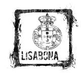Lisbon Stamp. A stamp of the capital of Portugal, Lisbon Stock Photos