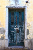 Lisbon stary Drzwi Obraz Royalty Free