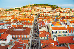 Lisbon Stary Grodzki przegląd, Portugalia Obraz Stock