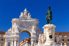 Lisbon statues Royalty Free Stock Images