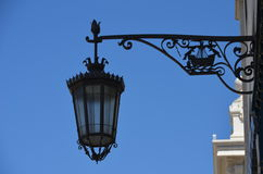 Lisbon street lamp Royalty Free Stock Photos
