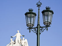 Lisbon Street Lamp Stock Images