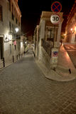 Lisbon street by night Royalty Free Stock Photo