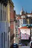 Lisbon street scene with Basilica Royalty Free Stock Images
