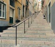 Lisbon street stairs Stock Image
