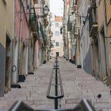 Lisbon street stairs Stock Photo