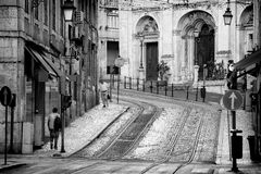 Lisbon street Royalty Free Stock Photo