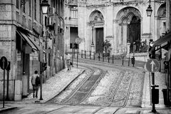 Lisbon street Royalty Free Stock Images