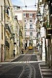 Lisbon Street and Tram Royalty Free Stock Photos