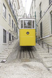Lisbon Street tram. Lisbon Street with tram transport and city Stock Image
