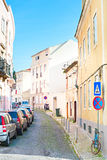 Lisbon street view Royalty Free Stock Photo