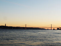 Lisbon. Sunrise, watcher, arhitech Stock Photo