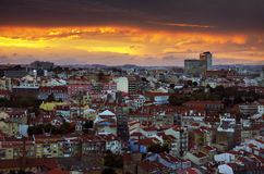 Lisbon at Sunset Royalty Free Stock Photo
