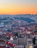 Lisbon at sunset, Portugal Royalty Free Stock Photo