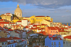 Lisbon on sunset, Portugal Royalty Free Stock Photos