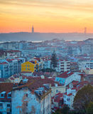Lisbon at sunset, Portugal Stock Images