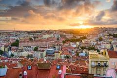 Lisbon Sunset Royalty Free Stock Photos