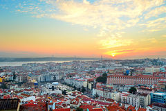 Lisbon sunset view, Portugal Royalty Free Stock Photography