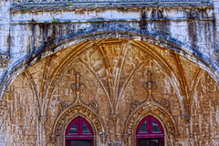 Lisbon - szczegółu Jeronimos monaster Fotografia Royalty Free