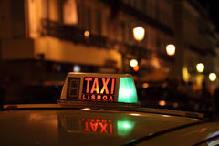 Lisbon Taxi Stock Images