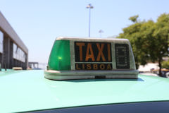 Lisbon Taxi Royalty Free Stock Images