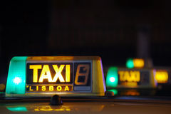 Lisbon Taxi Sign Stock Photography