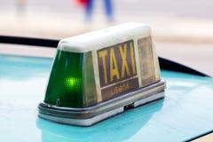 Lisbon taxi sign Stock Photography