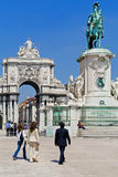 Lisbon Terreiro do Paço Commerce Square Royalty Free Stock Photo