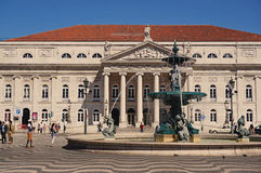 Lisbon. Theater. Lisbon. National theater of the queen Mary II Stock Photo
