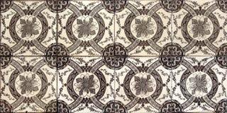 Lisbon tiles. Traditional Lisbon tiles on the facade of old house Stock Photography