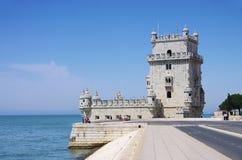 Lisbon Torre de Belem Royaltyfria Bilder