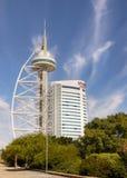 Lisbon Tower Vasco Da Gama Portugal Stock Image
