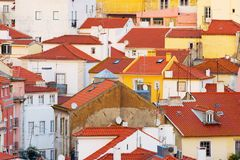 Lisbon traditional architecture Background Portugal Royalty Free Stock Photography