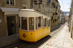 Lisbon tram. Tram in a street of lisbon Stock Photos