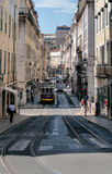 Lisbon tram. Royalty Free Stock Image