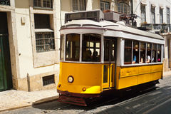 Lisbon Tram. Traditional old touristic tram in Lisbon, Portugal stock photo