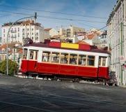 Lisbon tram in Bairro Alto district, Lisbon. stock photography