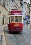 Lisbon tram in Bairro Alto district, Lisbon. stock image