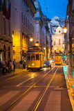 Lisbon tram. Lisbon is the capital and the largest city of Portugal. It is the westernmost large city located in continental Europe, as well as its westernmost Royalty Free Stock Photo