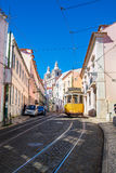 Lisbon tram car Portugal. Stock Photo