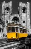 Lisbon tram car Portugal. Royalty Free Stock Images