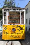 Lisbon Tram Cars Stock Photography