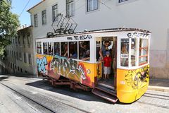 Lisbon Tram Cars Stock Images