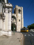 Lisbon with tram Royalty Free Stock Photography