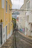Lisbon Tram. Exposure of a Typical Tram in the Streets of Lisbon, Portugal Stock Images